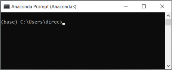 A screenshot of the Anaconda Prompt